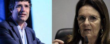 O banqueiro André Esteves e a ex-presidente da Petrobras Graça Foster